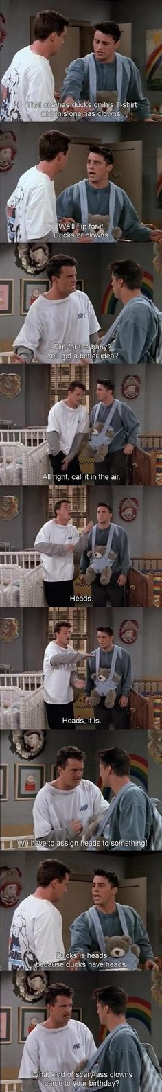 friends tv show funny | funny friends tv show quotes. ha totally agree with Joey on this one Clowns are scary as hell!!!