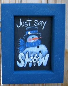 Just Say Snow Tole Painting Pattern by barbsheartstrokes on Etsy, $4.00