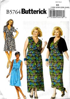 454c53339b Items similar to Womens Plus Size DIY Knit Mock Wrap Dress