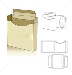 die line vector – Corrugated and folding carton box templates Food Box Packaging, Packaging Design, Paper Box Template, Box Templates, Cardboard Packaging, Carton Box, Craft Box, Recipe Box, Creations