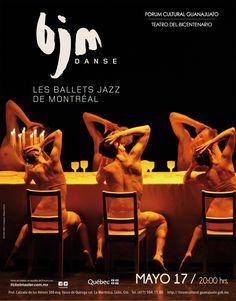 Copyright © 2012 Teatro del Bicentenario    Les Ballets Jazz de Montréal  Danza contemporánea    mayo 17 de 2012 / 20:00 horas Quebec, Montreal, Ballet, Mayo, Movies, Movie Posters, Contemporary Dance, Circus Art, Guanajuato