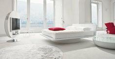 Møbler: Futuristisk og flabet seng