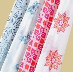 Cotton voile muslin baby blankets in the most chic patterns I've ever seen for baby, $23 each from harabuhouse.com