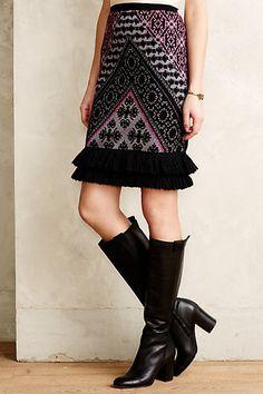 Fringed Sweater Skirt #anthropologie 4120089867865