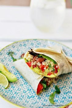 Mexican Quinoa Wrap - I LOVE this vegan lunch