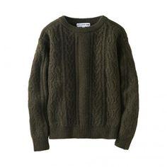 WOMEN เสื้อสเวตเตอร์ IDLF ผ้าถักลายเคเบิ้ลคอปาดแขนยาว #style #fashion #trend #onlineshop #shoptagr