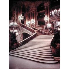 The Grand Staircase of the Opera-Garnier - Charles Garnier ❤ liked on Polyvore
