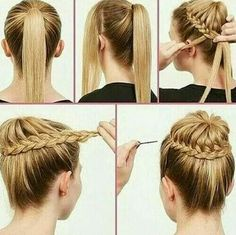 French braid bun-2