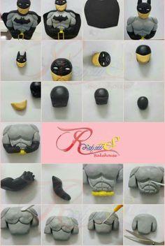 Gumpaste Batman tutorial Roshows Bakehouse https://m.facebook.com/roshowsbakehouse