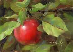"""Daily Paintworks - """"Apple.1"""" - Original Fine Art for Sale - © Nancy Murty"""
