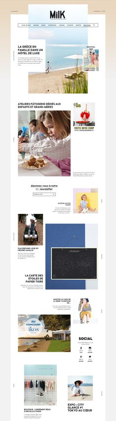 webdesign Milk Magazine