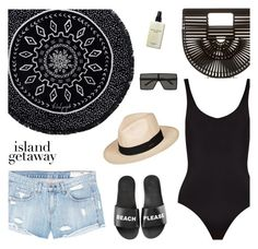 """""""Trinidad and Tobago Travel Outfit"""" by ivka-detektivka ❤ liked on Polyvore featuring The Beach People, Schutz, Yves Saint Laurent, Bobbi Brown Cosmetics, Cult Gaia, rag & bone/JEAN, Solid & Striped, Roxy, caribbean and outfitsfortravel"""