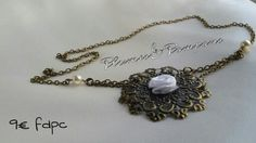 Headband bronze rose blanche