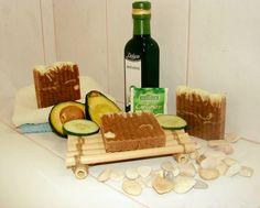 Avocado und Gurke Seife in grüne Tee Avokádó és uborka szappan züld teában