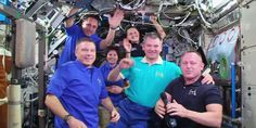 #AstroButch hands @Space_Station command to @AstroTerry today during ceremony. #Soyuz trio undocks Weds at 6:44pm ET.
