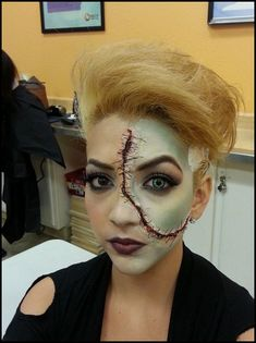 This fantasy makeup was created by a student who attends our Empire Beauty School in Thornton, CO. #Makeup #fantasymakeup