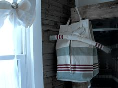sleepover  camp  bag  with matching hanger