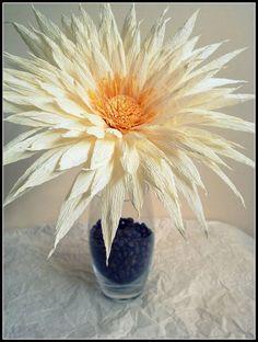 Crepe flor de papel: