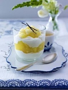 Birnen-Apfel-Grütze mit Vanille-Quark Rezept