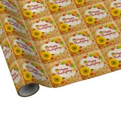 Happy Thanksgiving 13 Wrapping Paper Options