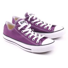 Purple Converse As Seas Ox ($64) ❤ liked on Polyvore featuring shoes, sneakers, converse, zapatos, chaussures, purple sneakers, converse trainers, converse footwear, purple shoes and converse shoes