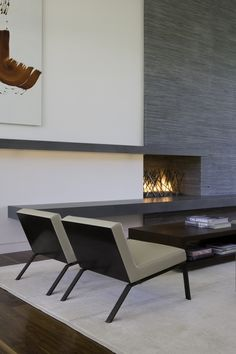 built-in fireplace woodburning | Brentwood Residence,© Art Gray Photography
