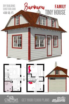 This micro home plan has 3 sleeping areas throughout the different levels of the house. Tiny House Loft, Tiny House Trailer, Tiny House Living, Tiny House Design, Micro House Plans, Small House Plans, House Floor Plans, The Plan, How To Plan