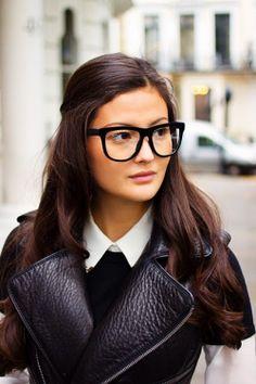 over sized nerd glasses...try?