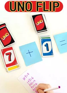 Math games for kids_Uno flip