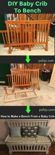 Ideas For Old Baby Cribs Repurpose Old Baby Cribs, Baby Crib Diy, Best Baby Cribs, Old Cribs, Baby Nursery Diy, Baby Nursery Furniture, Baby Room Diy, Babies Nursery, Children Furniture