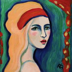 Oriana  -Original Portrait Painting by Roberta Schmidt,  ArtcyLucy on Etsy.com