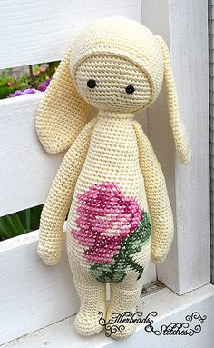 RITA the rabbit made by Illerdolls / crochet pattern by lalylala