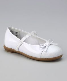 Take a look at this White Patent Lil Gemini Flat by Rachel Shoes on #zulily today!
