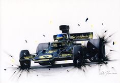Ronnie Peterson opposite lock by klem.deviantart.com on @deviantART