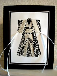 Iris folded kimono in beautiful black + white prints...