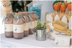 Drinks + Decor from a Peter Rabbit Birthday Party via Kara's Party Ideas | KarasPartyIdeas.com (11)