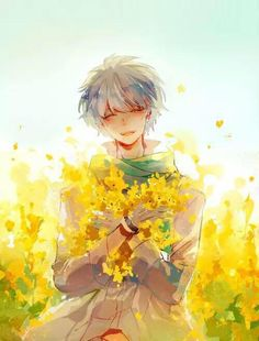 Flowers?! Yellow? Smile?!