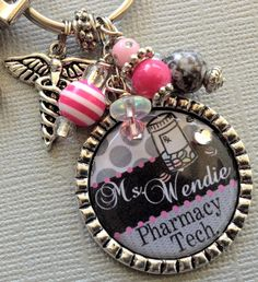 PHARMACIST keychain pharmacy technician instructor by buttonit, $17.50