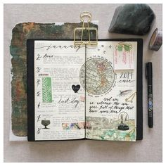 Meanwhile, back in my Travelers Note...a space for those singular moments or events of the day worth noting #midoritravelersnotebook #midori #travelersnotebook #tn #mtn #journal #journaling #hobonichi #hobonichitecho #tombow