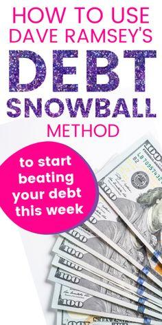 Debt Snowball Spreadsheet, Debt Snowball Calculator, Debt Snowball Worksheet, Dave Ramsey Debt Snowball, Dave Ramsey Financial Peace, Money Makeover, Debt Payoff, Pay Debt, Get Out Of Debt