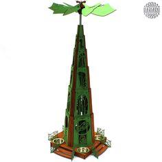 DAMASU-Info-Blog: Bastelanleitung Stilpyramide Jugendstil Blog, Tower, Timber Mouldings, Wood Art, Craft Tutorials, Art Nouveau, Computer Case, Blogging, Towers