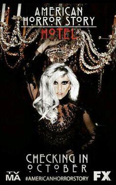 AHS American Horror Story Hotel Season 5 on FX with Lady Gaga tv ad promo poster. Horror Show, Horror Films, Horror Stories, Creepy, Scary, American Horror Story Hotel, Ahs Hotel, Character And Setting, Drama