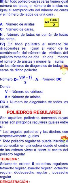 POLIEDROS GEOMETRIA DEL ESPACIO FÓRMULAS Y PROPIEDADES pdf
