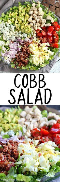 This is my favorite salad! COBB SALAD - #cobbsalad #saladrecipe #healthyrecipe
