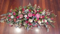 Flowers by Pep - Western Australia casket spray of natives and roses. Casket Flowers, Funeral Flowers, Native Rose, Funeral Sprays, Casket Sprays, Western Australia, Kitchen Designs, Flower Designs, Nativity