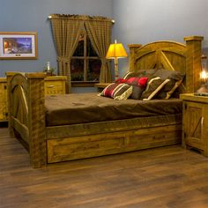 Barn wood bed