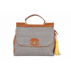 Kardashian Kollection Natural Grip Handle Straw Bag - Tan - Women's