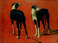 Alexandre-François Desportes - Study of Greyhounds.