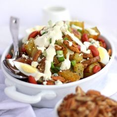 Roasted Autumn Potato Salad with Honey Mustard Dressing - easy, unique and so good!
