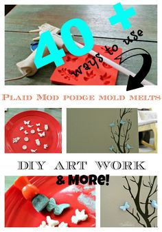 40 + Ways to work with Mod podge Melts. Adorable and creative ideas!